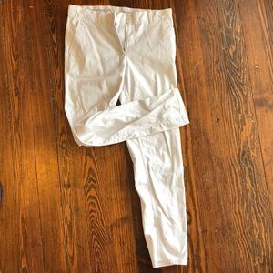 White relaxed fit pants